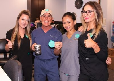 Dr. Goldman with some of his staff at Cosmetic Laser Dermatology