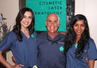 Dr. Goldman with 2 of his fellows at Cosmetic Laser Dermatology