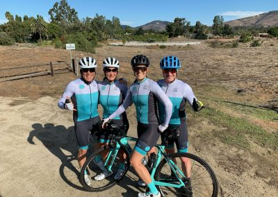 The founders sporting their Nspire Happiness cycling kits.
